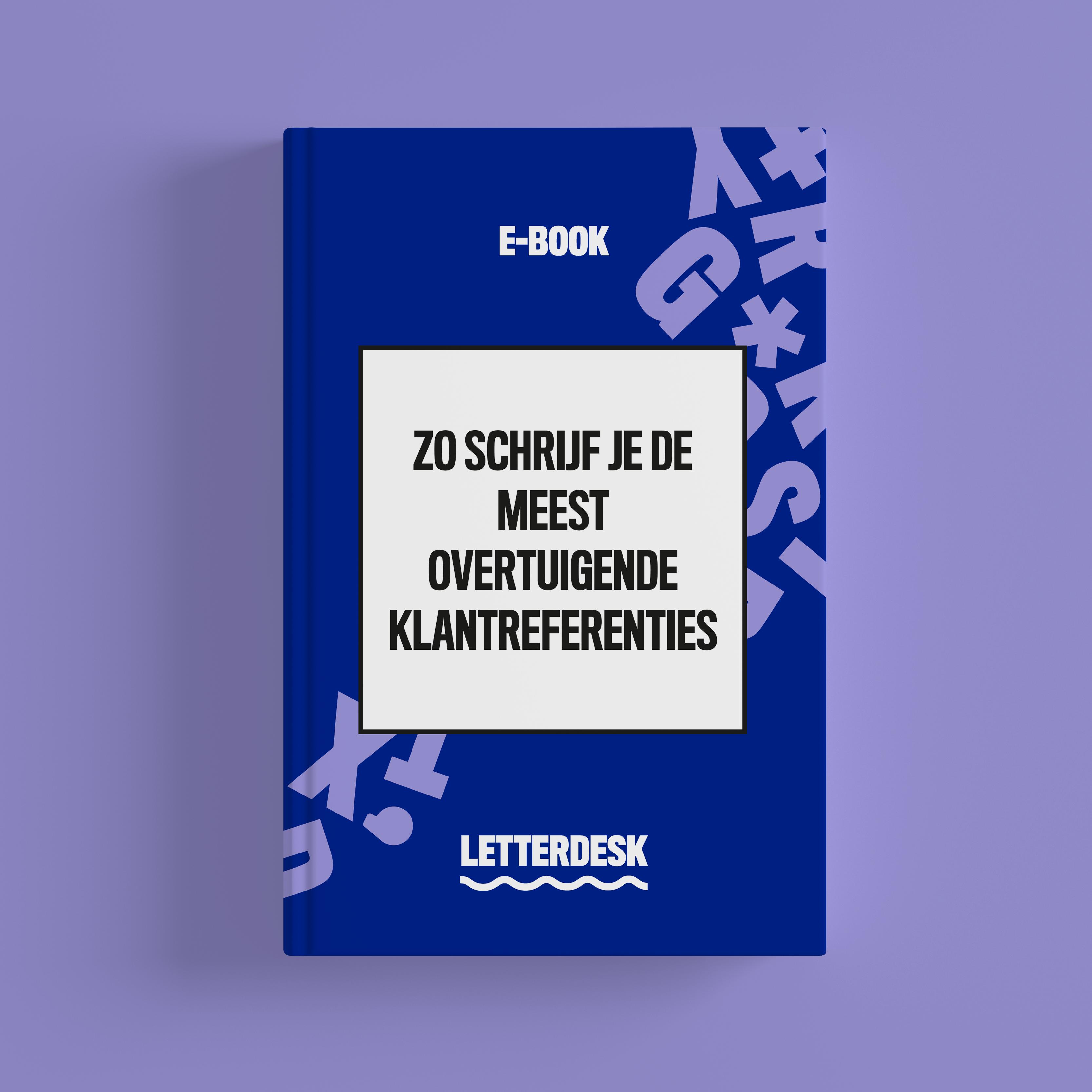 Cover e-book Zo schrijf je de meest overtuigende klantreferenties - vierkant